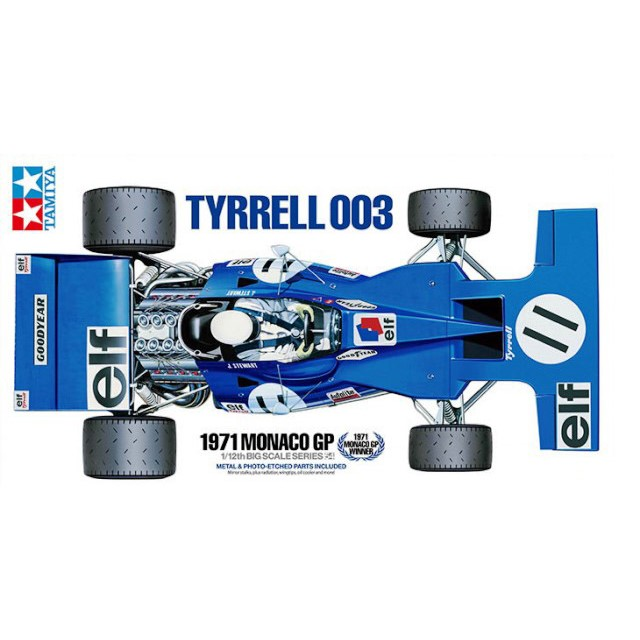Tyrrell 003 1971 Monaco GP (w/P-Etched Parts)
