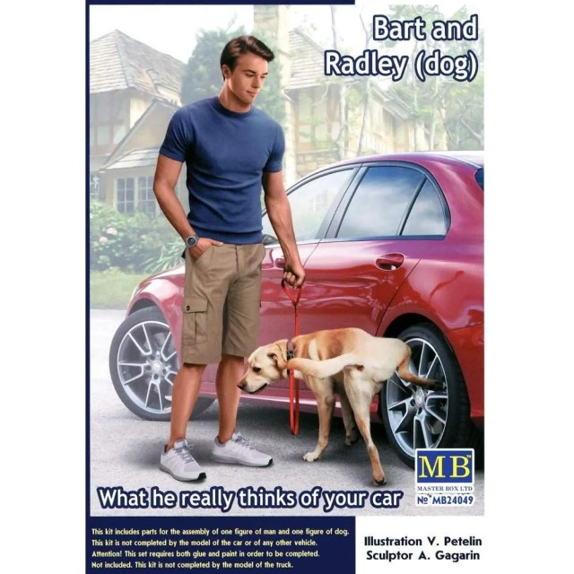 Bart and Radley (dog) What he really thinks of your car