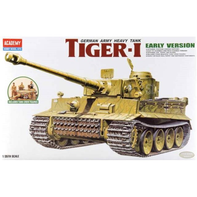 German Tiger 1 'Early Version' With Tanks Crew Figures