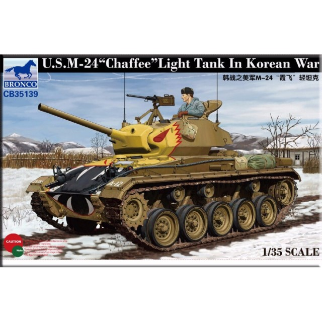 "US M-24 ""Chaffee"" Light Tank In Korean War"