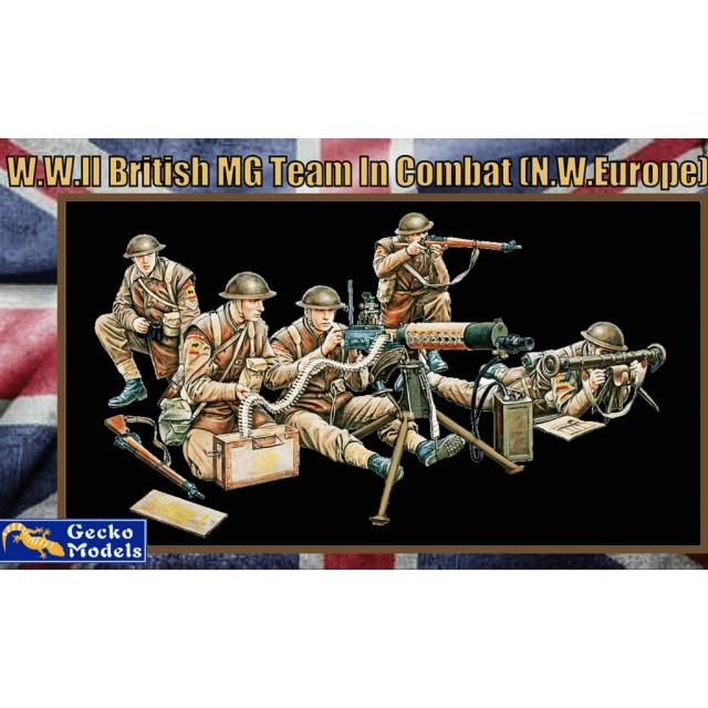 British WWII MG Team In Combat N.W. Europe Figure Set (5 Figures)