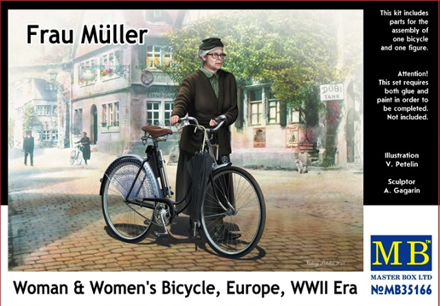 Woman And Womens Bicycle, Europe, WWII Era