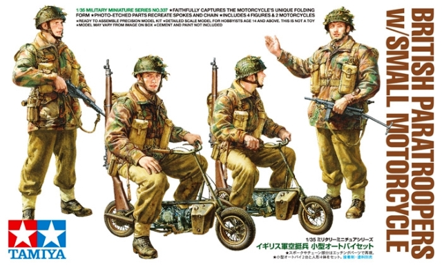 British Paratroopers with Small Motorcycle