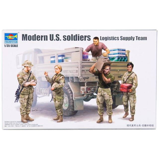 Modern U.S. Soldiers Logistics Supply Team Figure Set (5 Figures)