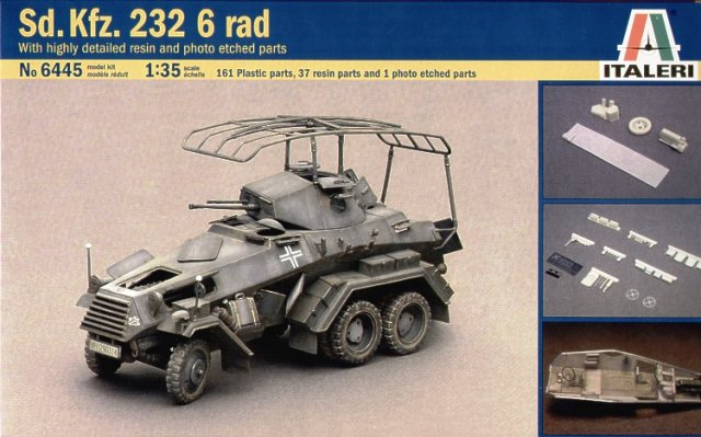 German Sd. Kfz. 232/6 Rad. w/Resin Parts