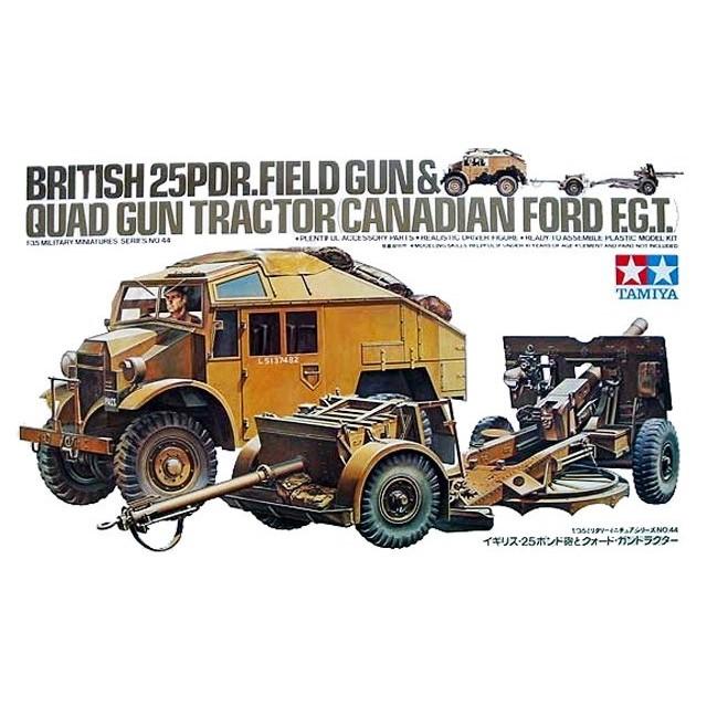 British 25 Pdr Field Gun & Quad Gun Tractor (Canadian Ford F.G.T)