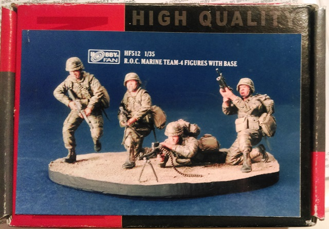 ROC Marine Team - 4 Figures with Base