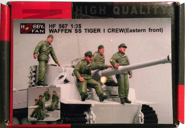German Waffen SS Tiger I Tank Crew (Eastern Front) - 4 Figures