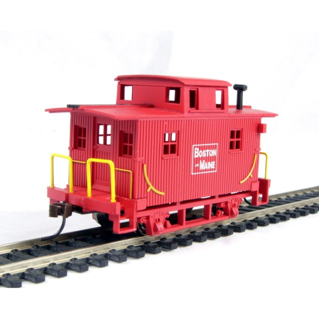 HO - Caboose, Bobber, Painted Unlettered (SS)