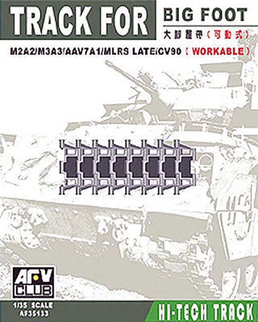 Big-Foot Track Links For M2A2, M3A3, AAV7A1, MLRS Late & CV90 Workable