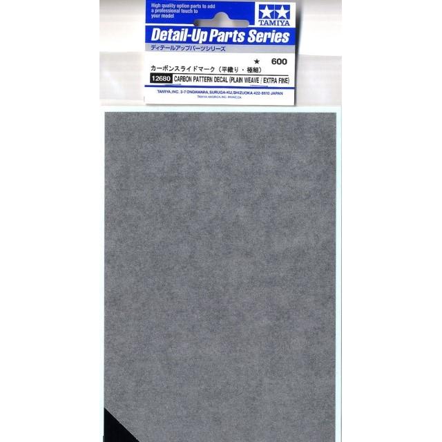 Carbon Decal Plain Weave - Extra Fine