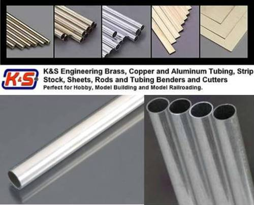 """(5/32"""") Dia 3.97mm Round Aluminium Tube - L = 304.8mm"""