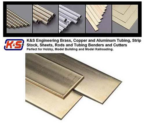 """(.032"""" x 4"""") 101.6mm x 0.81mm Thk Brass Sheet Metal - L = 254mm - (1 Pcs Per Card)"""