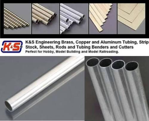 """(5/16"""") Dia 8.0mm Round Aluminium Tube 1 Pcs - L = 304.8mm"""