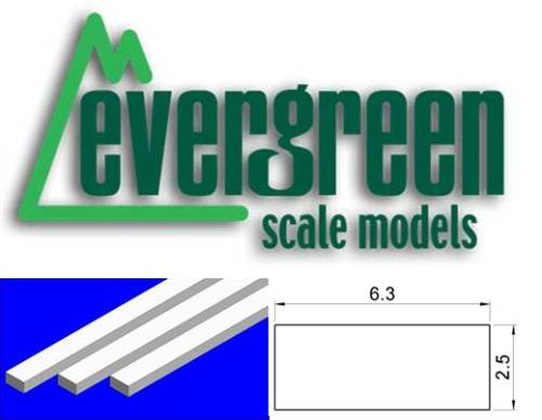 Dimensional Strips 6.3mm x 2.5mm (6 Strips Per Pack) #179
