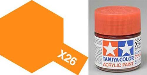 X-26 Clear Orange Acrylic
