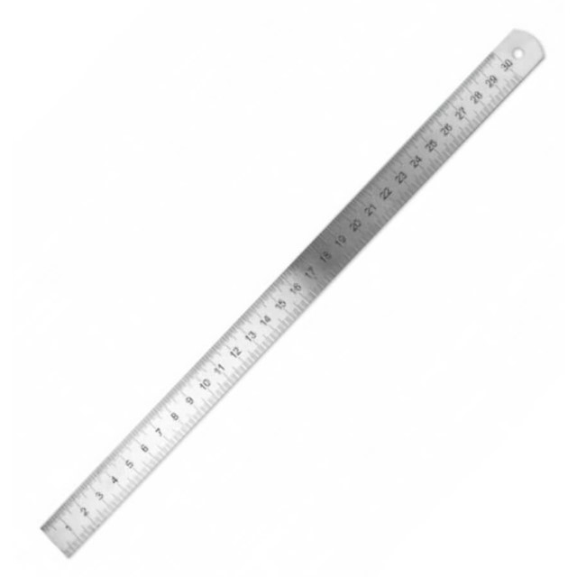 Stainless Steel Ruler 300 x 19 x 1mm