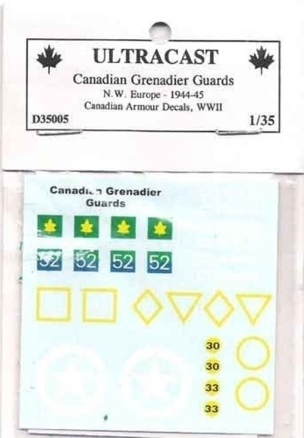 Canadian Armoured decals - Canadian Grenadier Guards