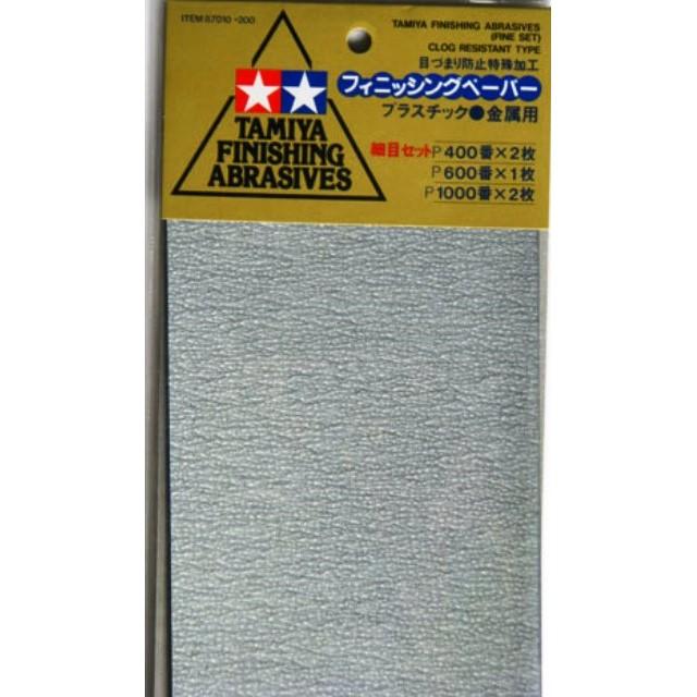 Finishing Abrasives (Fine Set) P400/P600/P1000 (3 Sheets)