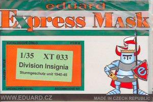 German Division Insignia Sturmgeschutz/StuG 1940-45 Express Masking Set