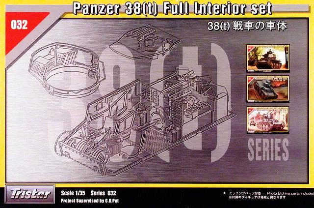 German Panzer 38(t) Full Interior Set (Plastic & Photo-Etched)