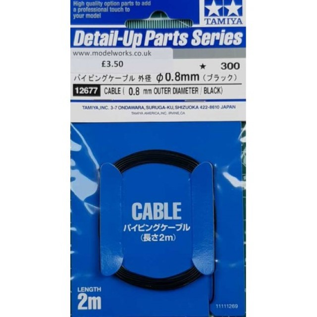 Cable 0.8mm OD (Black)