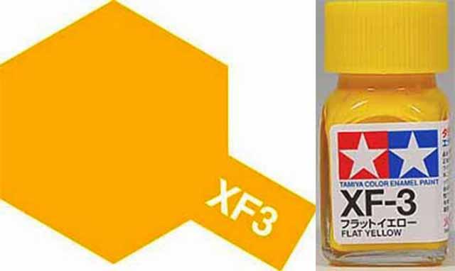 XF-3 Flat Yellow Enamel Paint