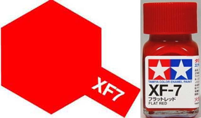 XF-7 Flat Red Enamel Paint