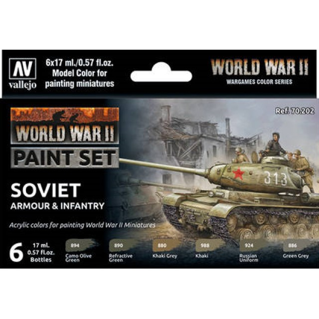WWII Soviet Armour & Infantry (6 Colour Set)