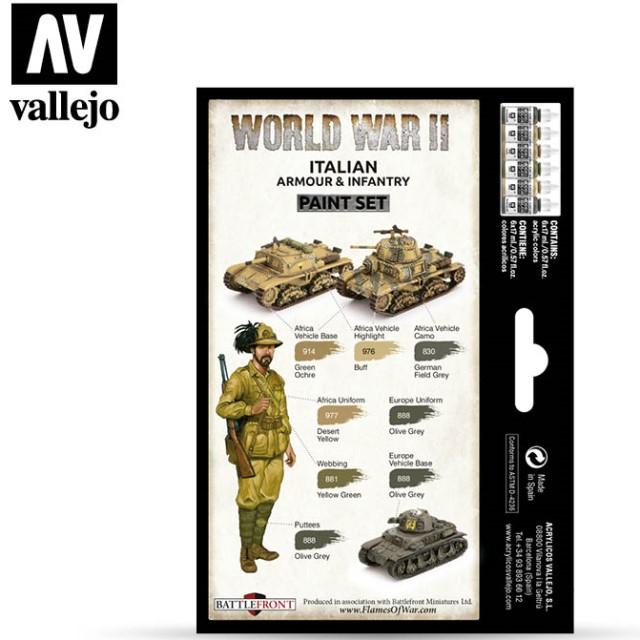WWII Italian Armour & Infantry (6 Colour Set)