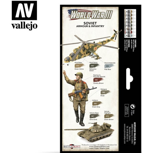 WWIII Soviet Armour & Infantry (8 Colour Set)