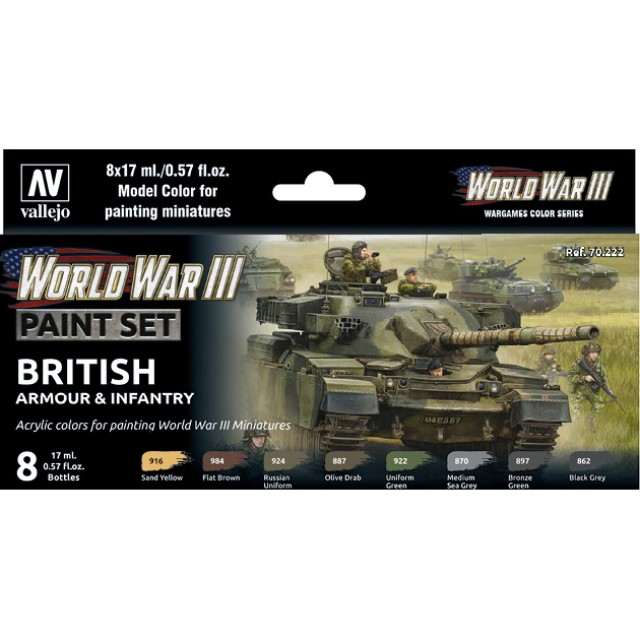 WWIII British Armour & Infantry (8 Colour Set)