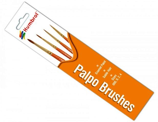 Palpo Sable Hair Brush Pack # 000/0/2/4