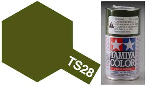 TS-28 Olive Drab 2 - Matt - Synthetic Lacquer Paint