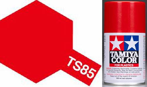 TS-85 Bright Mica Red Ferrari - Gloss - Synthetic Lacquer Paint