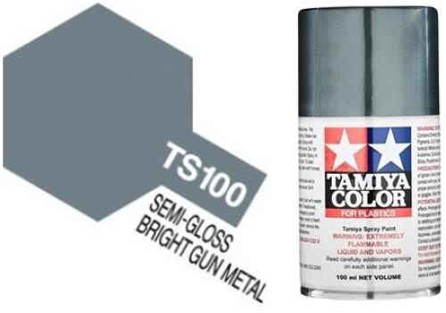 TS-100 Semi-Gloss Bright Gun Metal - Semi-Gloss - Synthetic Lacquer Paint